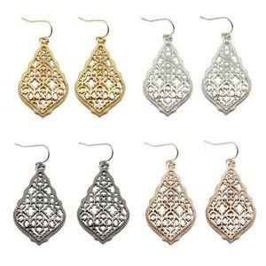 Jewelry - Elegant Teardrop Filigree Dangle Earrings